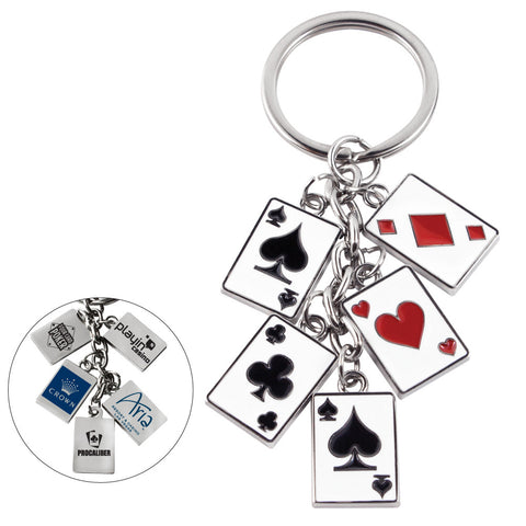MI-1077  POKER CARD KEYCHAIN