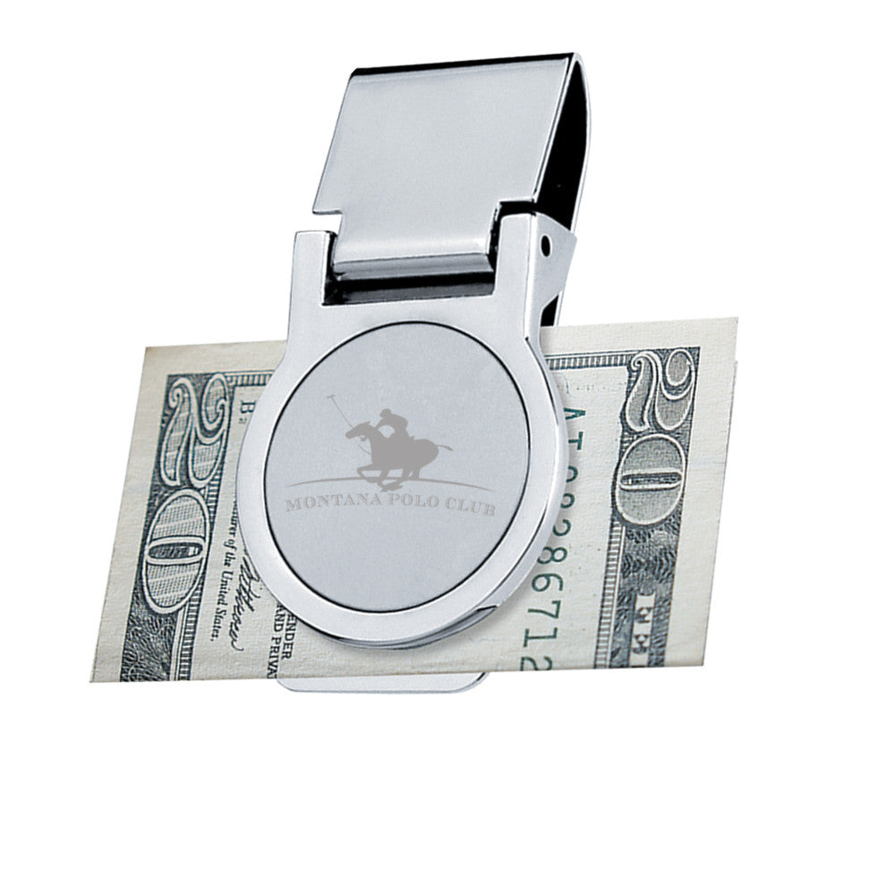 MI-1078  METAL MONEY CLIP - ROUND SHAPE