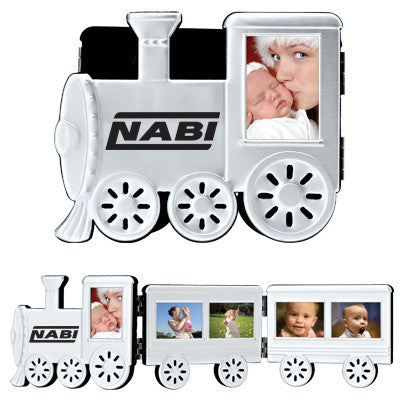 MI-1171  FOLDABLE ALUMINUM TRAIN PHOTO FRAME