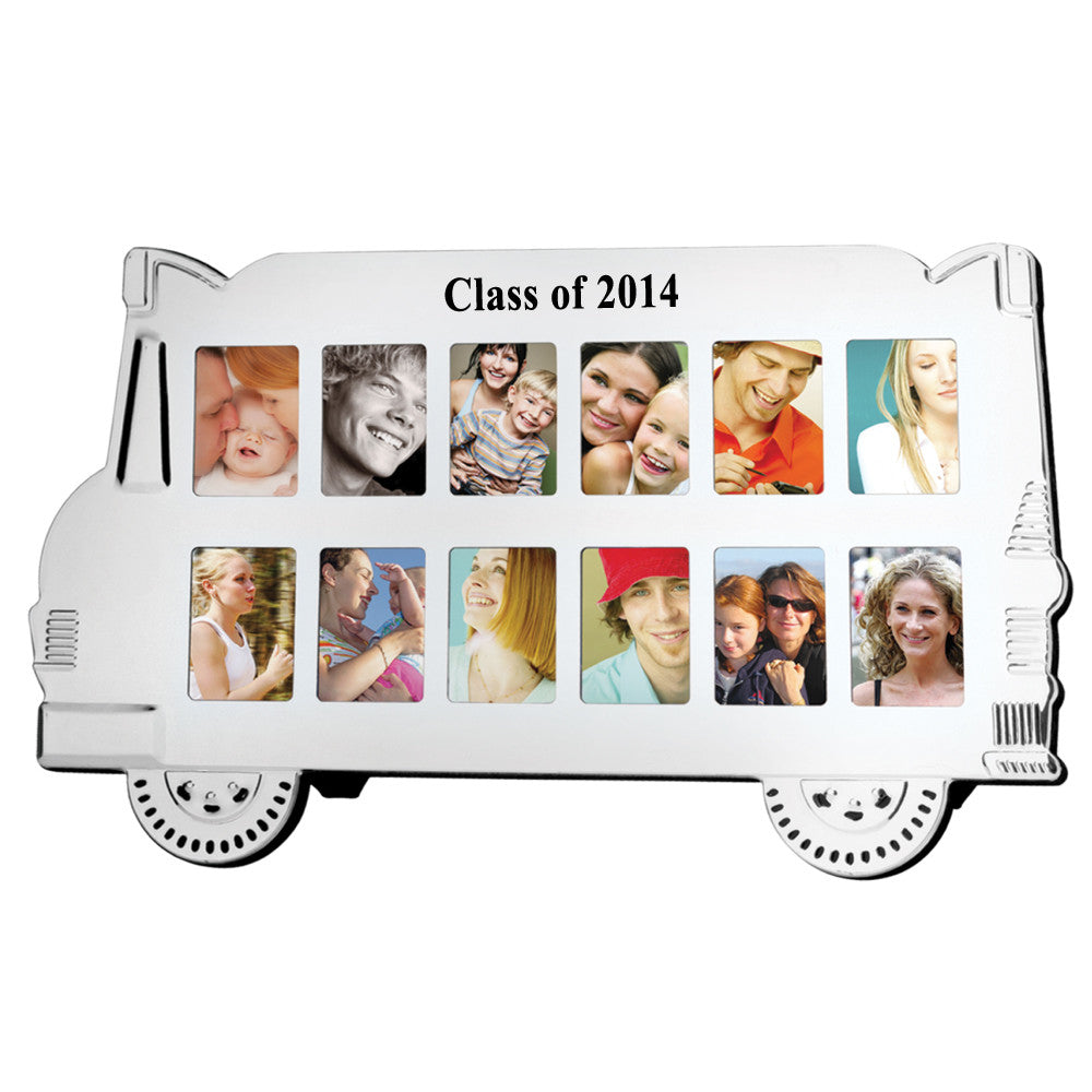 MI-1172  ALUMINUM SCHOOL BUS PHOTO FRAME