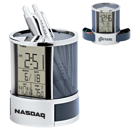 MI-1183  CALENDAR ALARM CLOCK PEN HOLDER