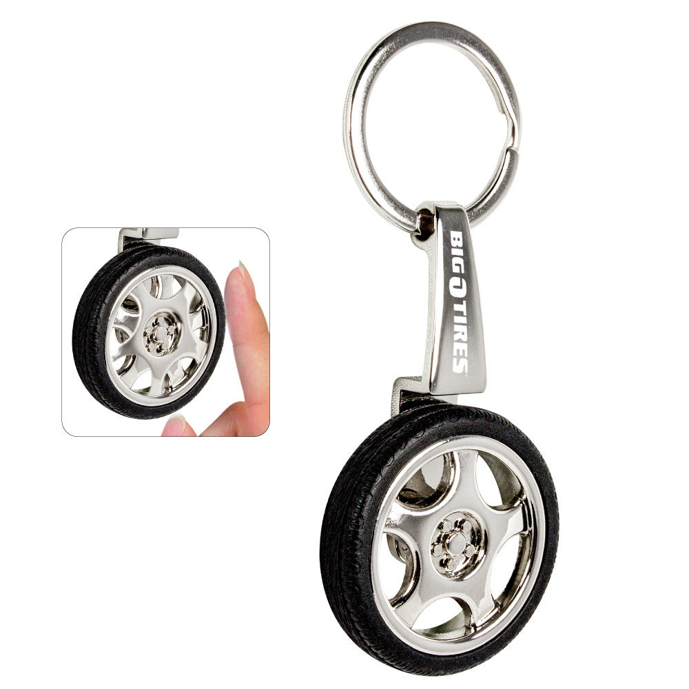 MI-1202  SPINNING TIRE KEY CHAIN