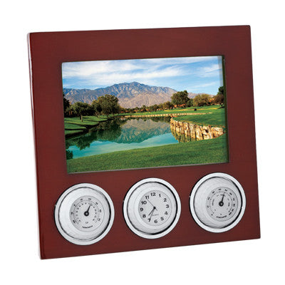 MI-1224  GOLF PHOTO FRAME WITH WEATHER STATION