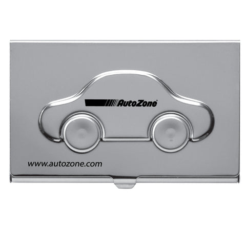 MI-1240  METAL CAR BUSINESS CARD CASE WITH EMBOSSED COVER