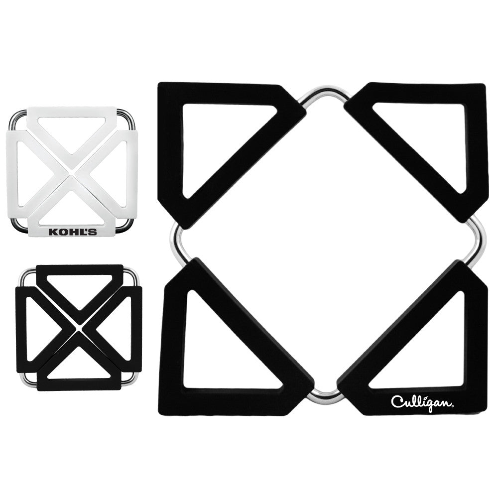 MI-1245  SILICONE TRIVET WITH METAL FRAME