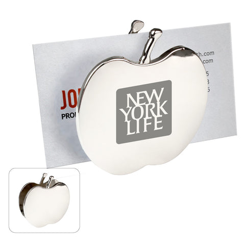 MI-1553  CHROME METAL APPLE MEMO/CARD HOLDER