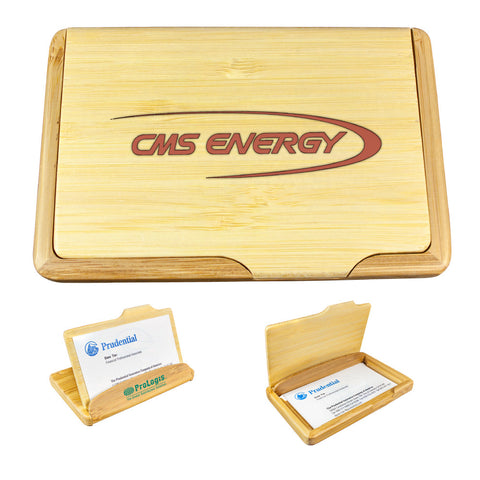 MI-1601  TWO-WAY BAMBOO NAME CARD HOLDER