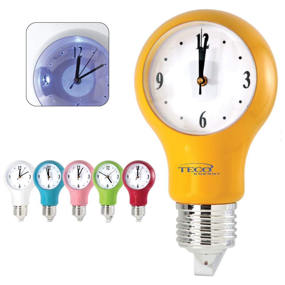 MI-1818  LIGHT BULB WALL CLOCK