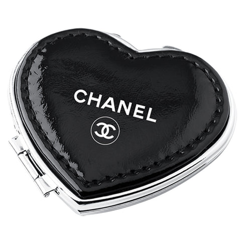 MI-1847  HEART COMPACT MIRROR IN SOFT PU LEATHER