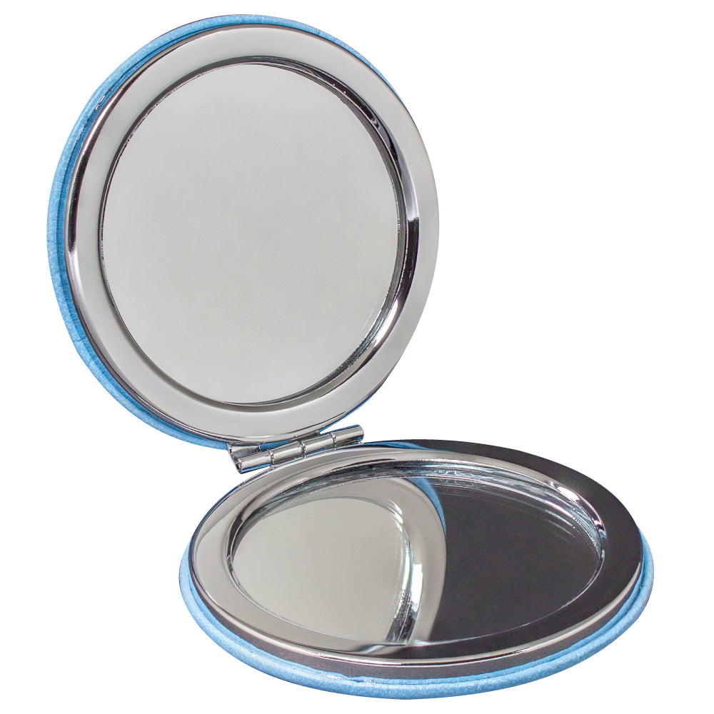 MI-1857  PU LEATHER ROUND COMPACT MIRROR