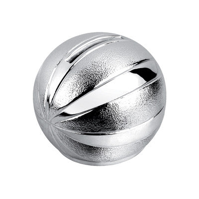 MI-2365  SILVER PLATED BASKETBALL BANK