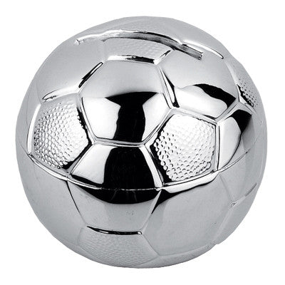 MI-2367  SILVER PLATED SOCCER BANK
