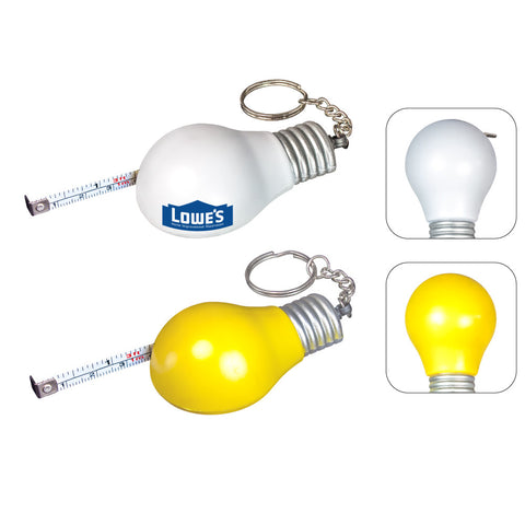 MI-305LB  LIGHT BULB MEASURING TAPE KEYCHAIN