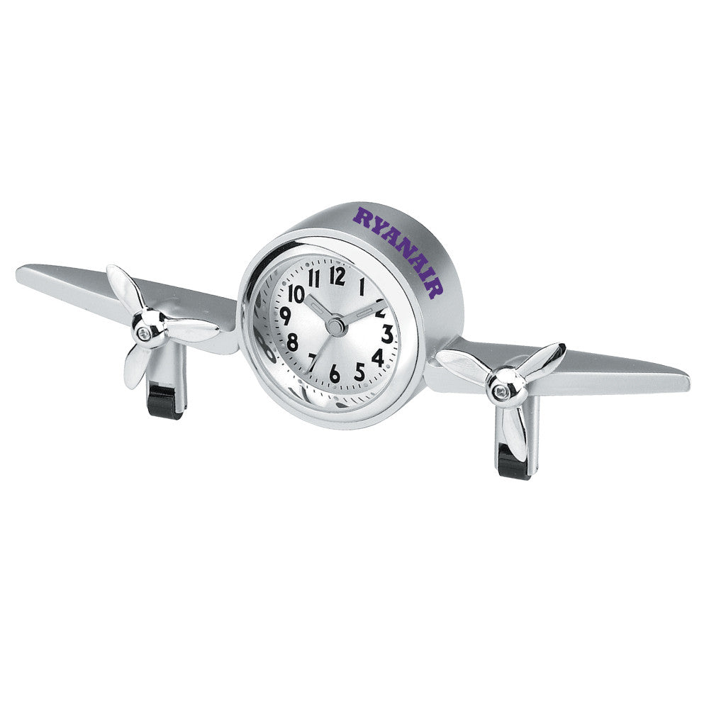 MI-3085  METAL AIRPLANE CLOCK