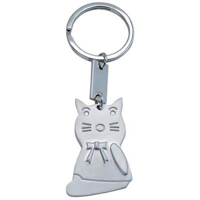MI-3375  METAL CAT KEY CHAIN