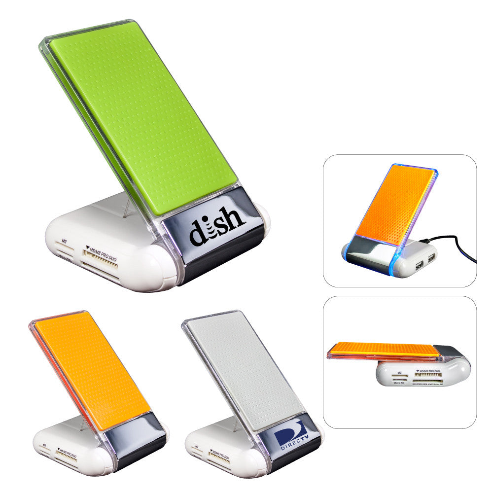 MI-3578  SILICONE FOLDABLE USB HUB/CARD READER