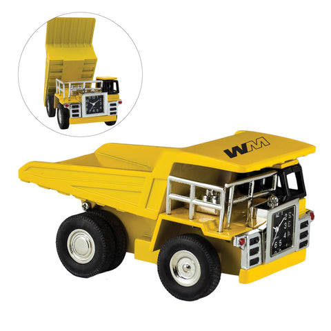 MI-3592  YELLOW DUMP TRUCK CLOCK