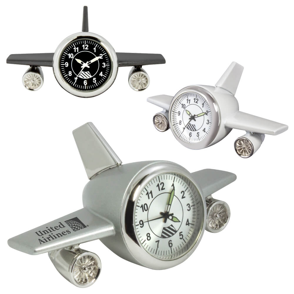 MI-3627  ALTIMETER AIRPLANE DESK CLOCK