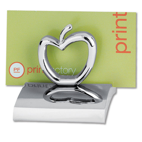 MI-3668AP  CHROME METAL BUSINESS CARD HOLDER - APPLE