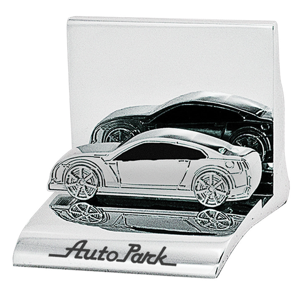 MI-3668CA CHROME METAL BUSINESS CARD HOLDER - CAR – Minya Collections