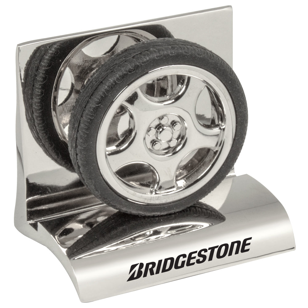 MI-3668TR  CHROME METAL BUSINESS CARD HOLDER - TIRE
