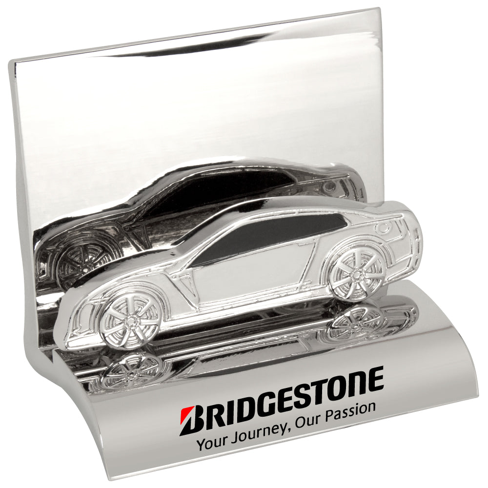 MI-3668CA  CHROME METAL BUSINESS CARD HOLDER - CAR