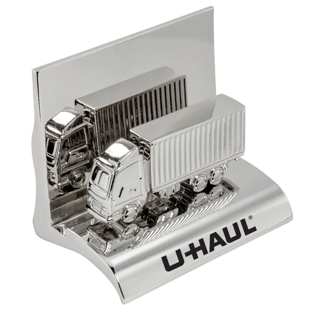 MI-3668CN  CHROME METAL BUSINESS CARD HOLDER - CONTAINER