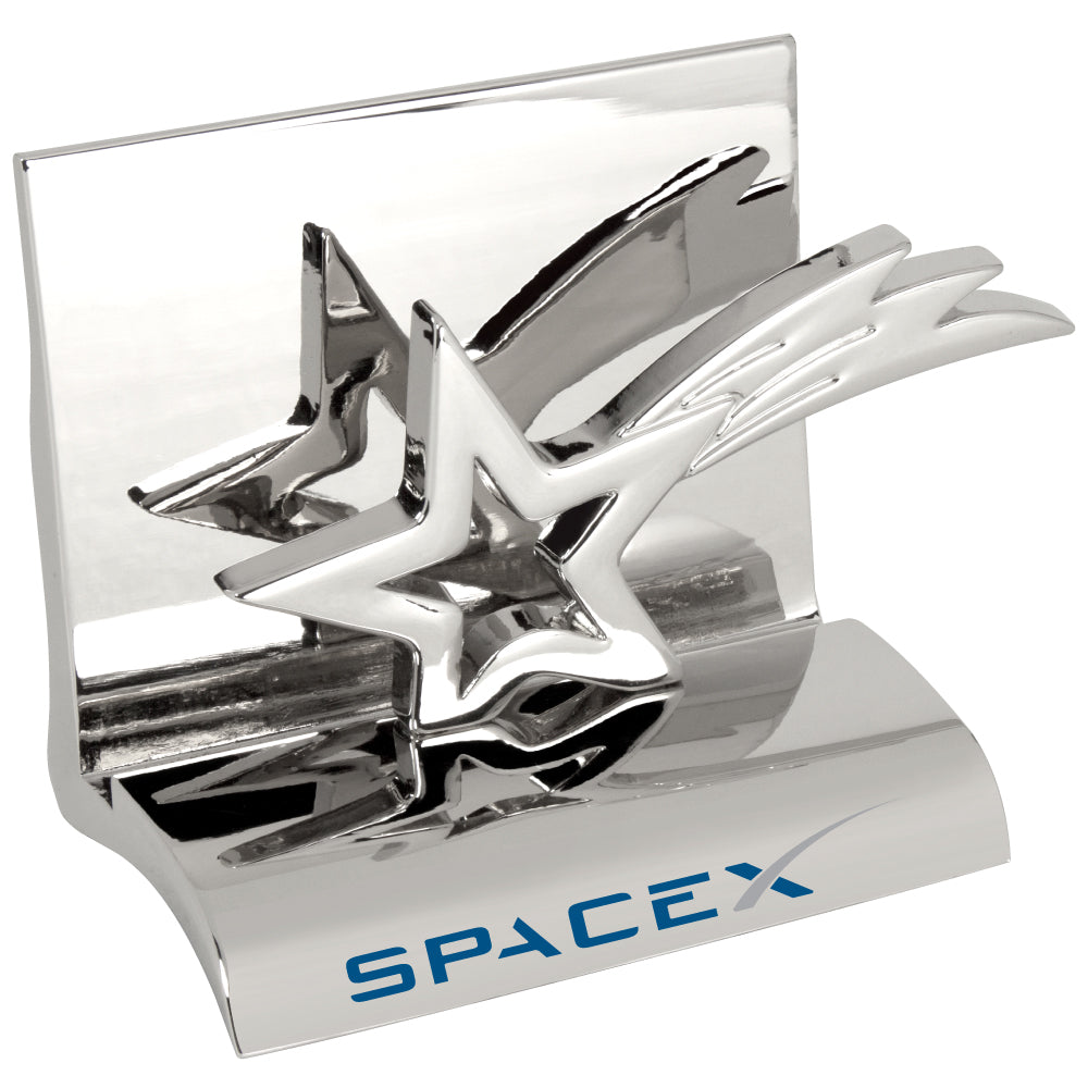 MI-3668ST  CHROME METAL BUSINESS CARD HOLDER - STAR