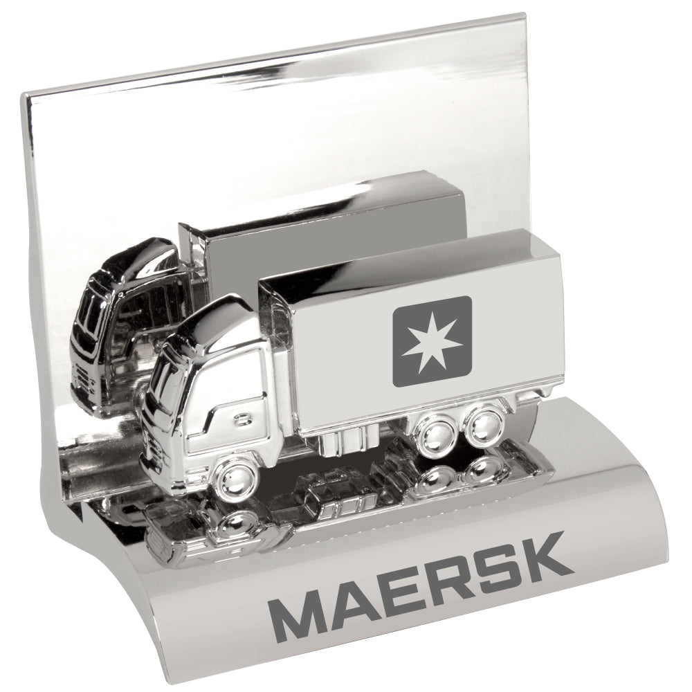 MI-3668TK  CHROME METAL BUSINESS CARD HOLDER - TRUCK