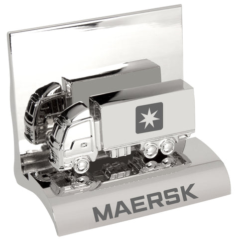 MI-3668TK  CHROME METAL BUSINESS CARD HOLDER - CONTAINER TRUCK