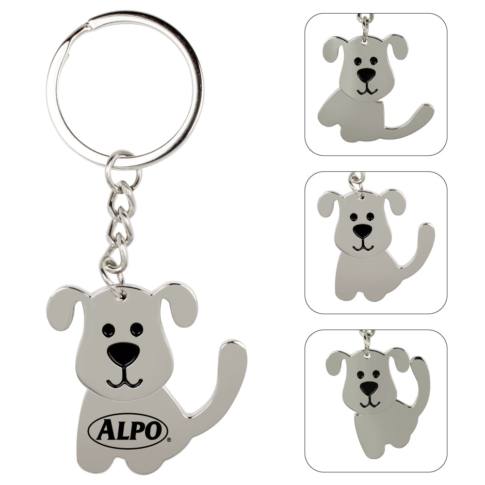 MI-388  SWINGING DOG KEYCHAIN
