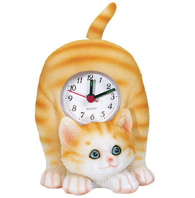 MI-4040CT  CAT CLOCK WITH SWINGING TAIL