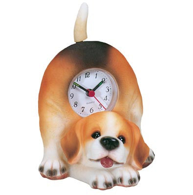MI-4040DG  DOG CLOCK WITH SWINGING TAIL