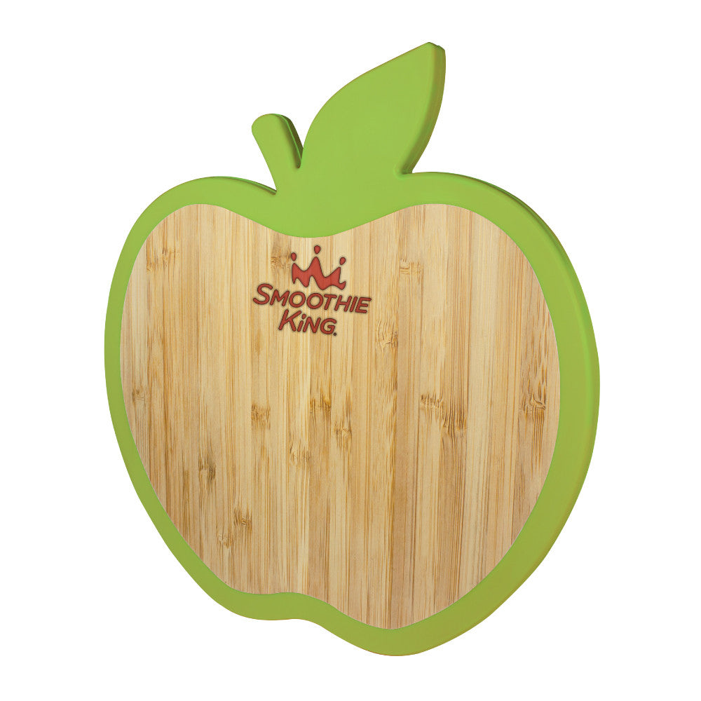 MI-4572  APPLE BAMBOO TRIVET W/ SILICONE EDGE