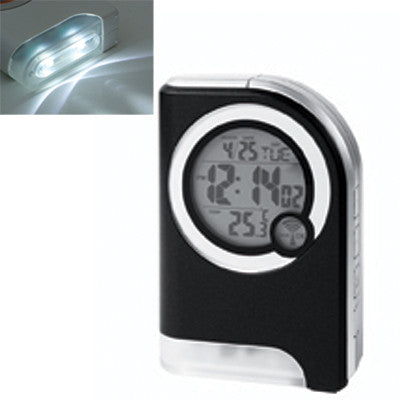 MI-4880  ATOMIC TRAVEL ALARM CLOCK WITH TORCH LIGHT