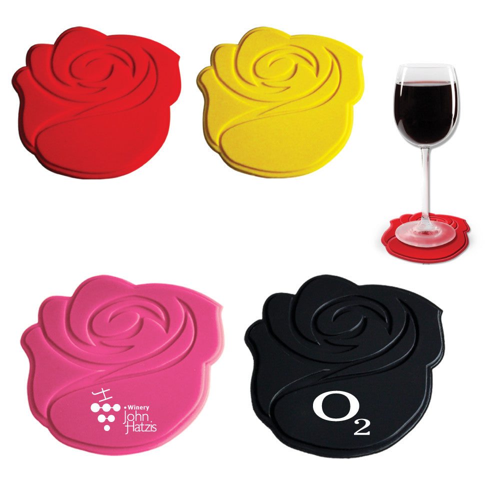 MI-7163  SILICONE ROSE COASTER