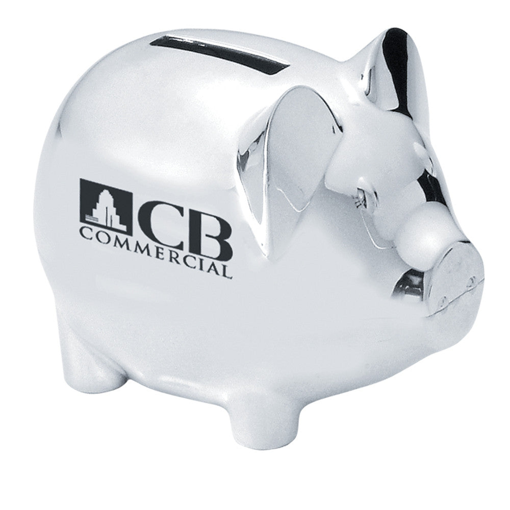 MI-8998  SILVER PLATED PIGGY BANK