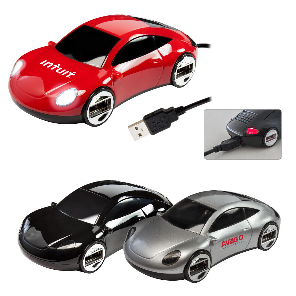 MI-9110  SPORTS CAR 4-PORT USB HUB