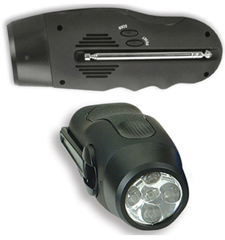 BF55BK  BATTERY FREE RADIO / LED LIGHT