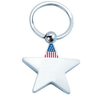 MI-4041  METAL AMERICAN FLAG KEY CHAIN