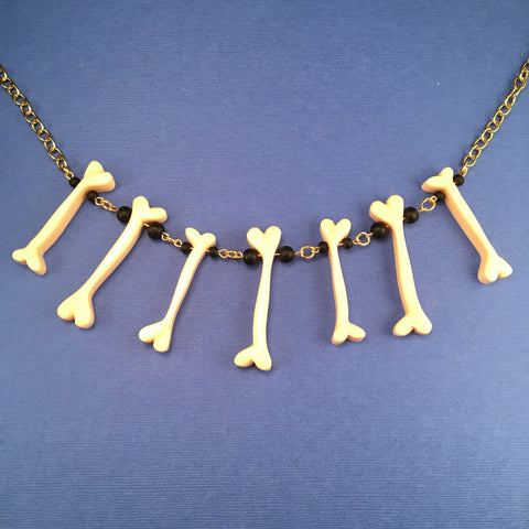 Bakelite Bone Sparklite™ Necklace in White