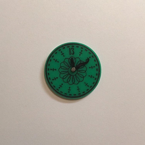 Flare Haunted Clock Lapel Pin