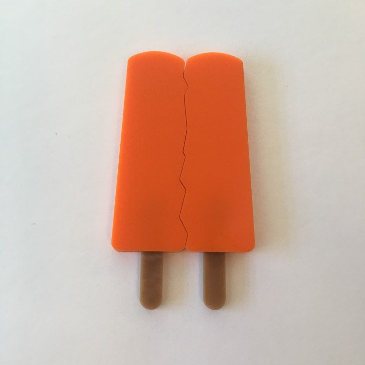 Flare Popsicle Brooch Set in Orange