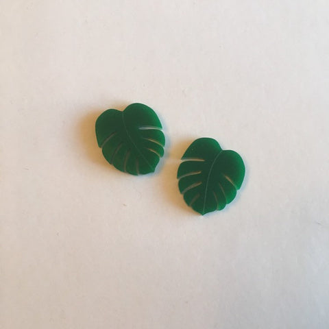 Flare Monstera Leaf Earrings