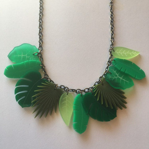 Flare Tropical Leaf Necklace