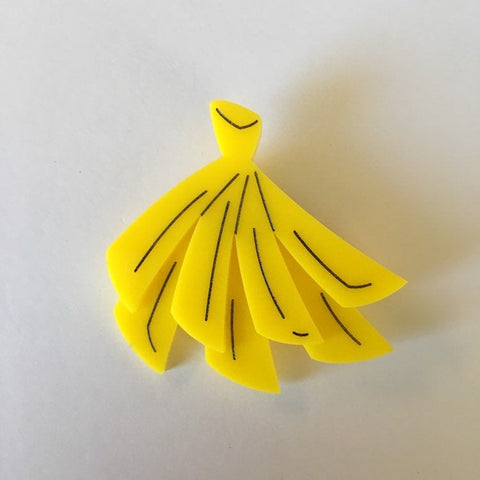 Flare Banana Brooch