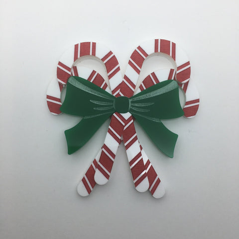 Flare Candy Cane Brooch