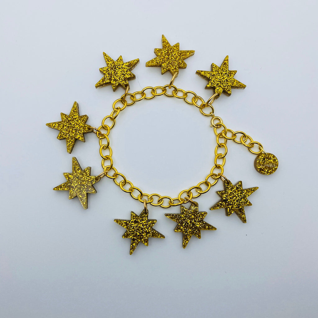 Flare Starburst Bracelet in Gold
