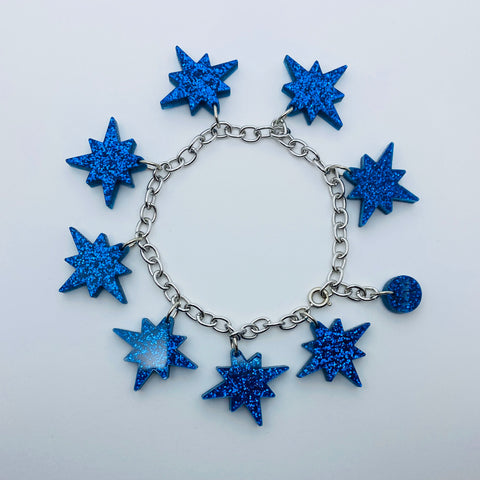 Flare Starburst Bracelet in Blue