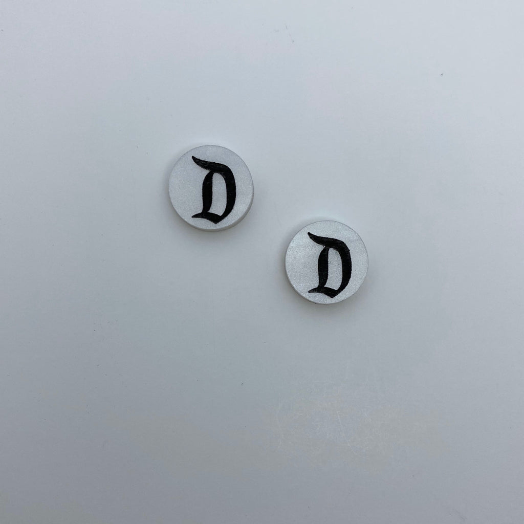 "Flare Gothic ""D"" Earrings"
